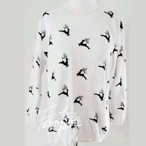 ASOS reindeer sweater sz 14